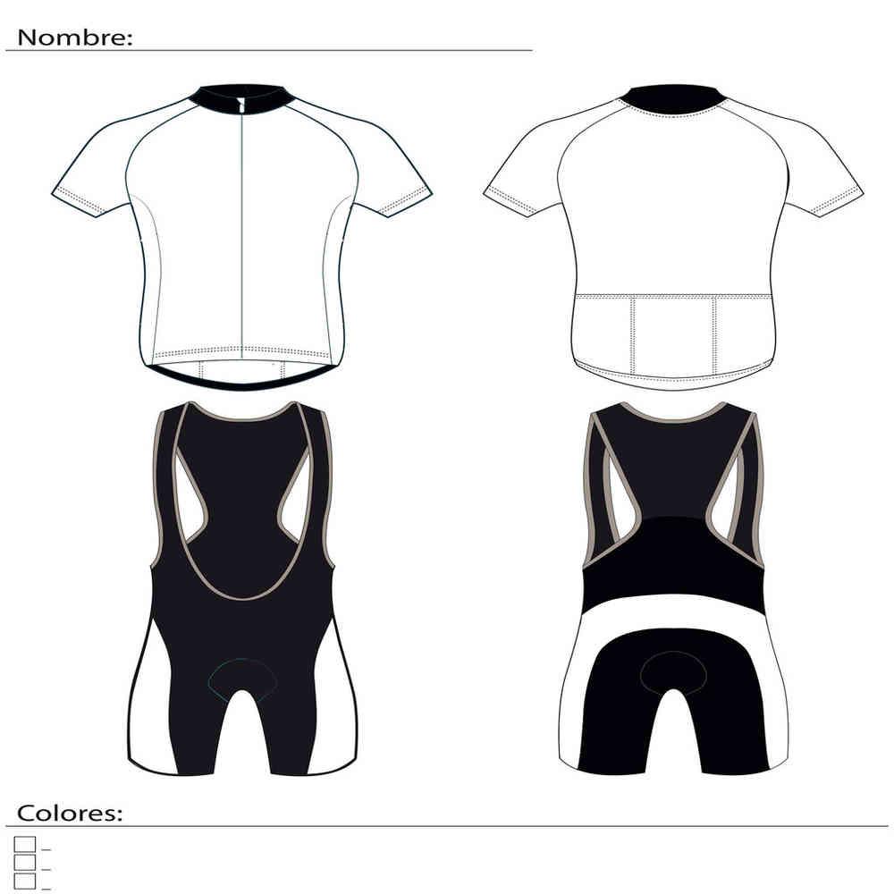Plantilla equipación ciclismo personalizada - maillot - culote