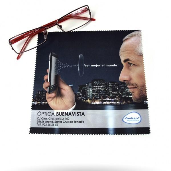 bcf52330f5a53 gamuza microfibra para ópticas personalizadas - regalo ...
