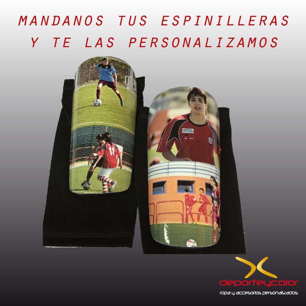 personalización integral de tus espinilleras de fútbol - logo ... f3ecd026109d1