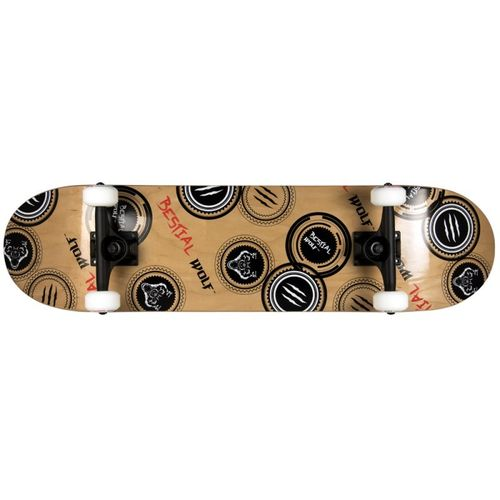 SKATEBOARD BESTIAL WOLF MADNESS 8 x 31 lobo sello, 7 full canadiense maple