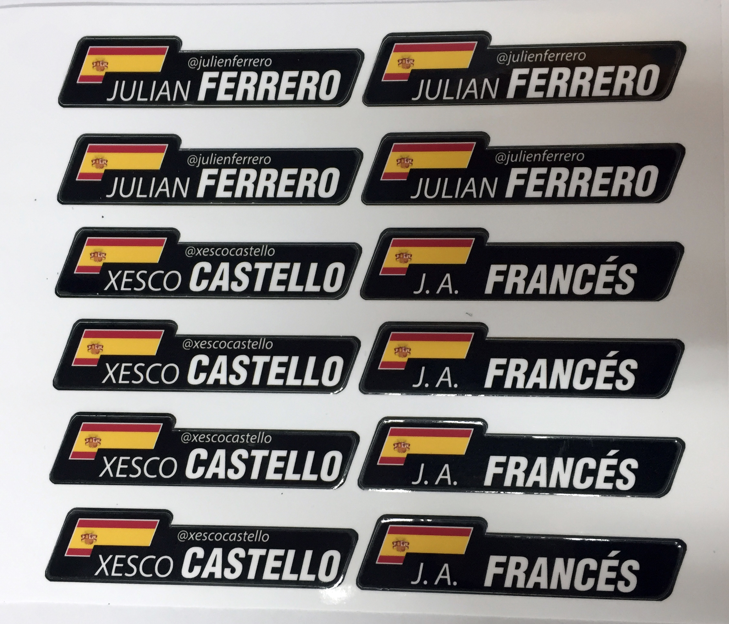 Kit adhesivos nombre y bandera prof personalizado - Pegatinas para la pared ...