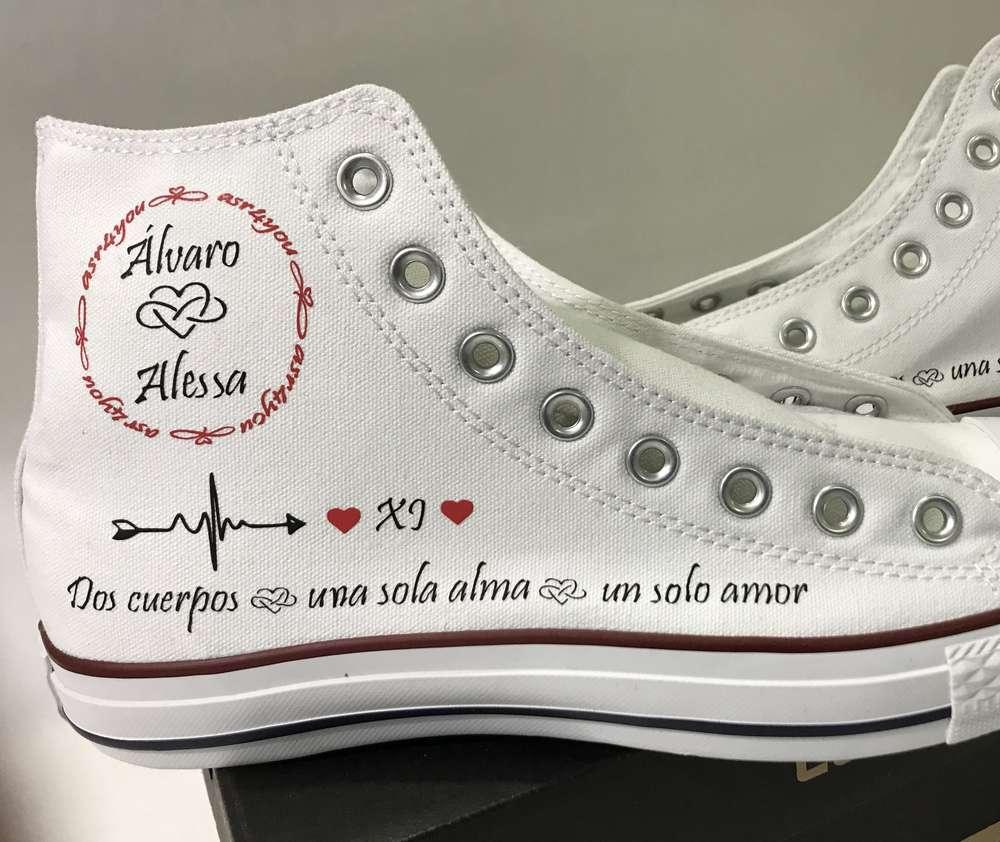 batalla Enajenar Fruncir el ceño  personalizamos tus zapatillas bambas tipo converse - impresión - imagen
