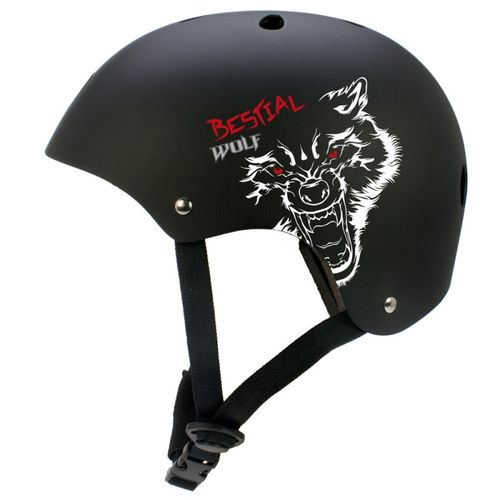 CASCO SCOOTER BESTIAL WOLF BLACKSKULL