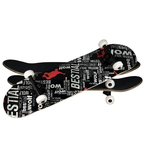 SKATEBOARD BESTIAL WOLF UNDER WOLF 8 x 31 LETRAS 7 full canadiense maple