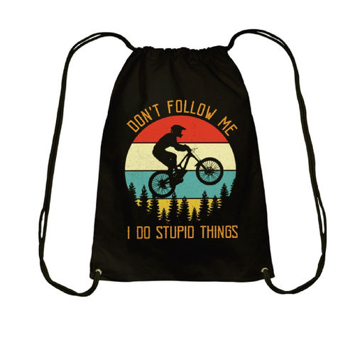 BOLSA MOCHILA ALGODÓN DONT FOLLOW ME MOUNTAIN BIKE PERSONALIZADA
